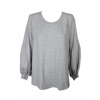 ファッション トップス Style & Co Grande Taille Gris Bruyere Bishop-Sleeve Pull 2X