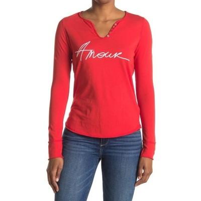 ザディグ エ ヴォルテール レディース Tシャツ トップス Tunisien Amour Long Sleeve T-Shirt RED