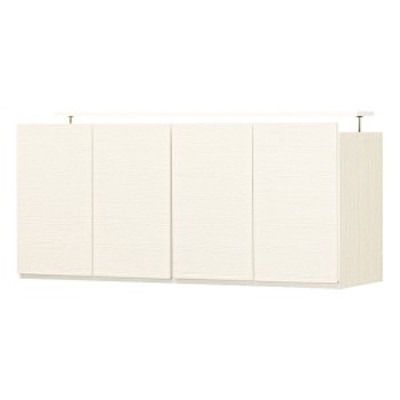 壁面収納 上置きキャビネット 幅120 おしゃれ ホワイト 白