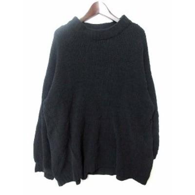 【中古】SEVENDAYS=SUNDAY ニット セーター F 黒 ブラック ポリエステル 長袖 シンプル 30184GF0004