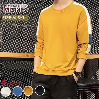 ロンt Tシャツ メンズ ラウンドネック 長袖 春 夏 ファッション かっこいい カジュアル ゆったり 高級 吸汗 大きいサイズ ストリート 快適