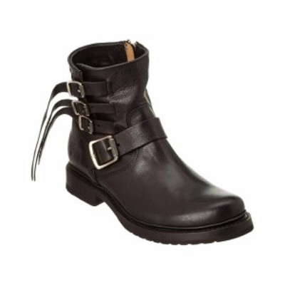 Frye フライ シューズ ブーツ Frye Womens Veronica Strap Leather Bootie 5.5 Black
