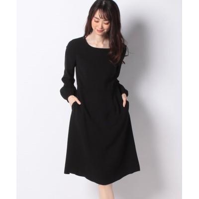 【ミス ジェイ】 スポンジージョーゼットドレス レディース ブラック 38 MISS J