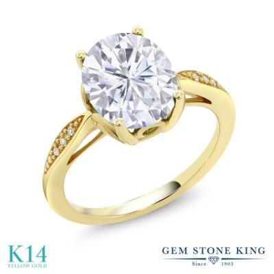 Forever Classic モアサナイト 指輪 レディース リング 天然 ダイヤモンド 14金 イエローゴールド 大粒 プレゼント 女性 嫁 誕生日