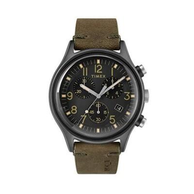 Timex TW2R96600 メンズ クロノグラフ クォーツウォッチ レザーストラップ付き【並行輸入品】