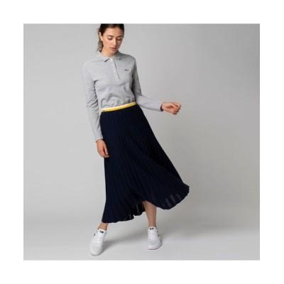 LACOSTE/ラコステ ウールブレンドニットプリーツスカート ネイビー 40(XL)