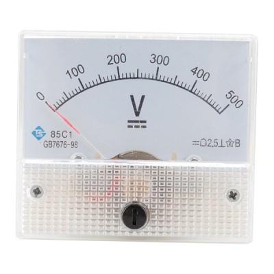 電圧アナログ電圧計.プロフェッショナル耐久2.5精度電圧アナログ電圧計パネル電圧計dc