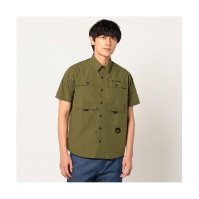 【コロンビア】 ヒューソンパーク ショートスリーブシャツ メンズ オリーブ M Columbia