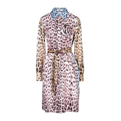ロベルト カヴァリ ROBERTO CAVALLI ミニワンピース&ドレス ピンク 38 シルク 100% ミニワンピース&ドレス