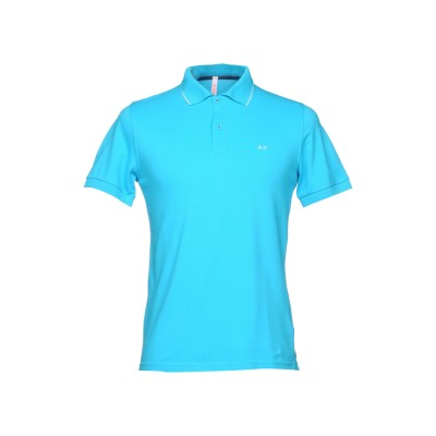 サンシックスティエイト SUN 68 ポロシャツ ターコイズブルー S コットン 95% / ポリウレタン 5% ポロシャツ