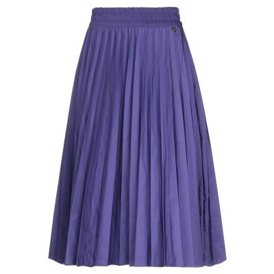 スーベニア SOUVENIR 7分丈スカート パープル S ポリエステル 100% 7分丈スカート