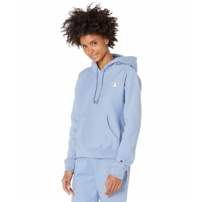 チャンピオン パーカー・スウェットシャツ アウター レディース Reverse Weave Pullover Hoodie Wildflower Pale Blue
