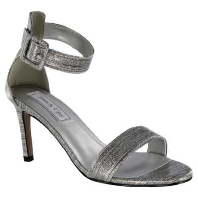 タッチアップ レディース オックスフォード シューズ Brenda Ankle Strap Heeled Sandal Pewter Gloss Synthetic