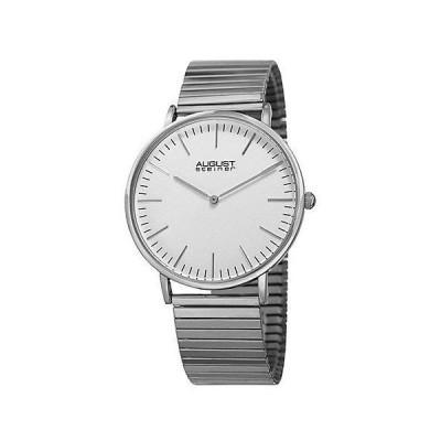 メンズ アクセサリー 時計 August Steiner Men's Stainless Steel Watch