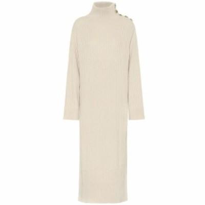 クロエ See By Chloe レディース ワンピース ワンピース・ドレス Ribbed wool-blend sweater dress Light Camel