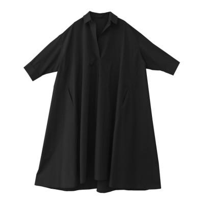 【ソーシャルガール】 テントオーバーサイズビッグシルエットシャツワンピース レディース ブラック M SocialGIRL