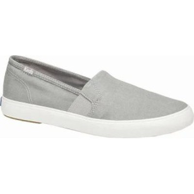 Keds レディーススニーカー Keds Clipper Washed Solids Silp On Light Gray Twill