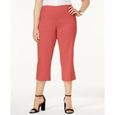 ジェイエムコレクション カジュアルパンツ ボトムス レディース Plus Size Tummy Control Pull-On Capri Pants, Created for Macy's Guava Sorbet