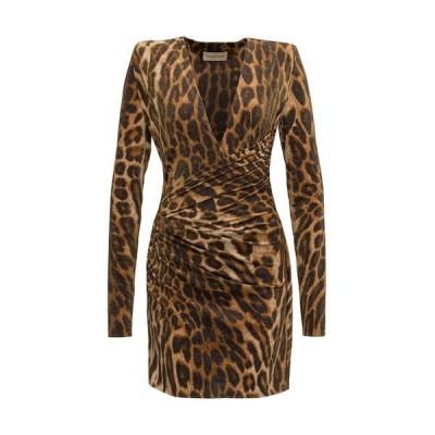 アレクサンドル・ボーティエ レディース ワンピース トップス Alexandre Vauthier Leopard Print Dress -
