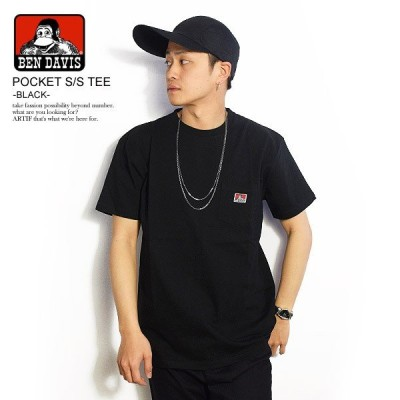ベンデイビス 半袖Tシャツ BEN DAVIS POCKET S/S TEE -BLACK-
