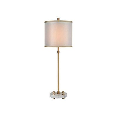 [新品]Elk Lighting D3889 Restraint Table Lamp, Grey Marble, Cafe Bronze