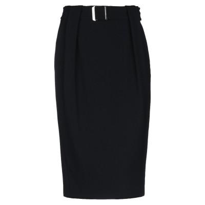 ニール・バレット NEIL BARRETT ひざ丈スカート ブラック 42 レーヨン 97% / ポリウレタン 3% ひざ丈スカート