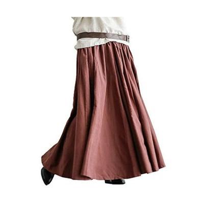 セカンドルーツ ふんわり ロングスカート ギャザー マキシ フレア ボリューム スカート 体型カバー ロング ロング丈 マキシ丈 たけ ゆっ