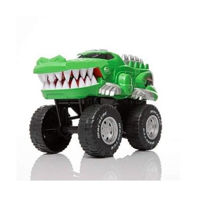 Rugged Racers Monster Trucks for Boys and Girls ? Toy Monster Trucks ? Crocodile ? Battery Operated Mouth Opening Design ? Revving E