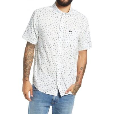 ルーカ RVCA メンズ 半袖シャツ トップス Scattered Floral Print Short Sleeve Button-Down Shirt Antique White