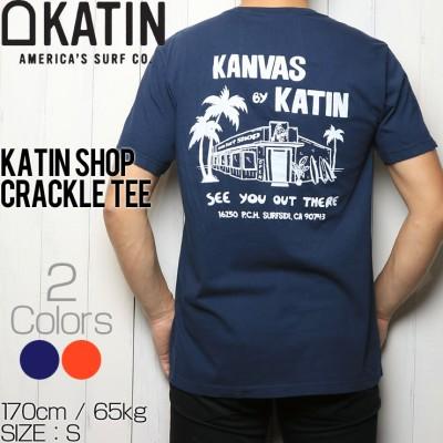 [クリックポスト対応] KATIN ケイティン KATIN SHOP CRACKLE S/S TEE 半袖Tシャツ TSSHO04(S×RED)