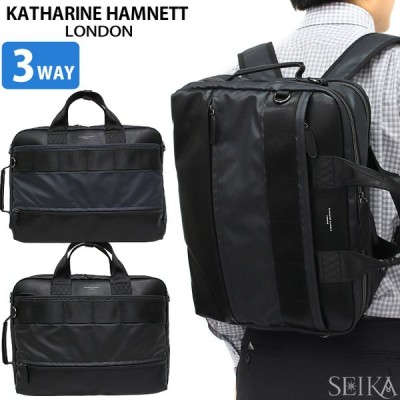 KATHARINE HAMNETT キャサリンハムネット ビジネスバッグ ブリーフケース リュック KH1647 3Way