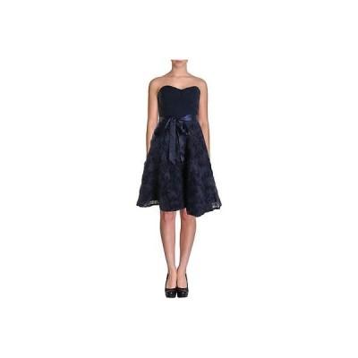 ドレス 女性  アイダンマトックス Aidan Mattox 7790 レディース ネイビー ローズtte Pleated Semi-Formal ドレス 14