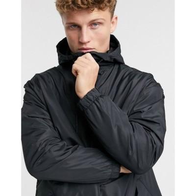 ブレイブソウル Brave Soul メンズ トレンチコート アウター trench jacket in black ブラック