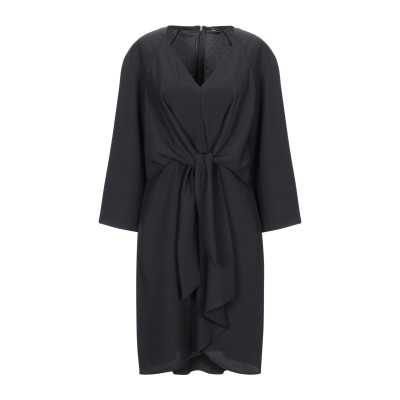 MARIELLA ROSATI ミニワンピース&ドレス ブラック 44 ポリエステル 100% ミニワンピース&ドレス
