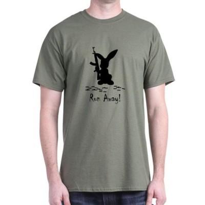 ユニセックス 衣類 トップス CafePress - Killer Bunny Black - 100% Cotton T-Shirt Tシャツ