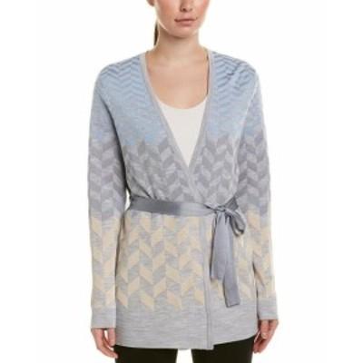 ファッション 衣類 St. John Wool-Blend Cardigan S Grey