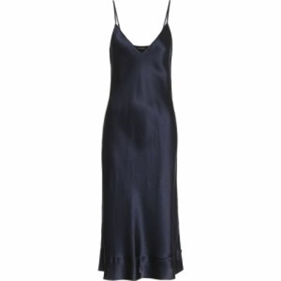 リーマシューズ Lee Mathews レディース ワンピース スリップドレス ワンピース・ドレス stella silk-satin slip dress Ink