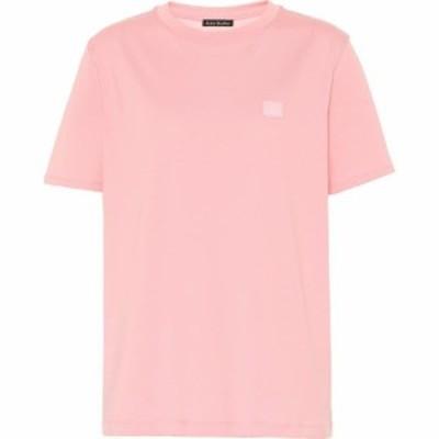アクネ ストゥディオズ Acne Studios レディース Tシャツ トップス Face cotton T-shirt Blush Pink