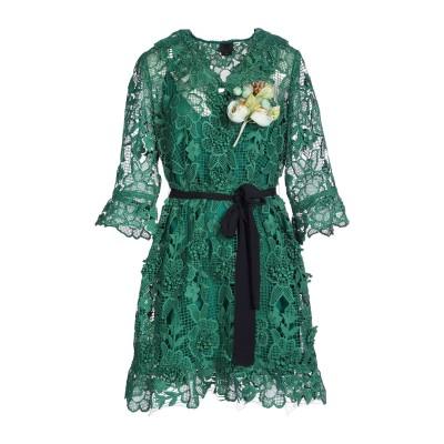 ANNA SUI ミニワンピース&ドレス ダークグリーン 4 ポリエステル 100% ミニワンピース&ドレス