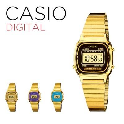 10年保証 CASIO カシオ スタンダード レディース 腕時計 キッズ 子供 女の子 チープカシオ チプカシ デジタル 日付 ゴールド 金 ブラック 黒 スカイブルー 水
