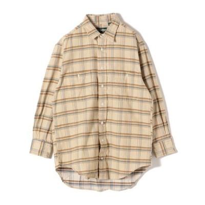 シャツ ブラウス GITMAN:コーデュロイビッグチェックシャツ