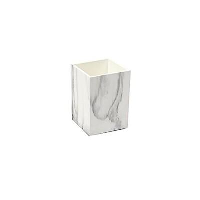 特別価格MEI YI TIAN ホワイトマーブルプリントABSデスクペンホルダーケースボックス 鉛筆ホルダー カップメイクアップブラシホルダー デスクオーガナ好評販売中