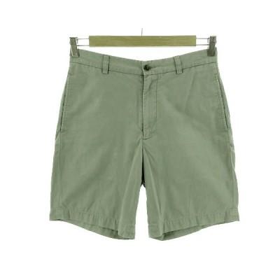 【中古】ブルックスブラザーズ BROOKS BROTHERS 346 パンツ ショートパンツ コットン グリーン系 薄緑 ライトモスグリーン 30 メンズ 【ベクトル 古着】