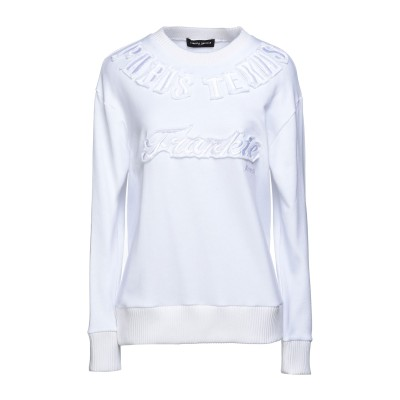 フランキー モレロ FRANKIE MORELLO スウェットシャツ ホワイト XL コットン 100% スウェットシャツ