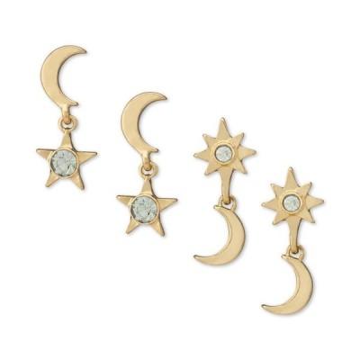レイチェル ロイ レディース ピアス・イヤリング アクセサリー Gold-Tone 2-Pc. Set Crystal Celestial Drop Earrings