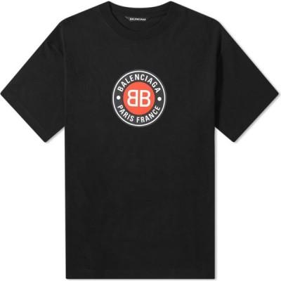 バレンシアガ Balenciaga メンズ Tシャツ ロゴTシャツ トップス Badge Logo Tee Black
