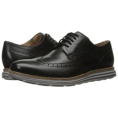 コールハーン オックスフォード メンズ Original Grand Shortwing Black Leather/Ironstone