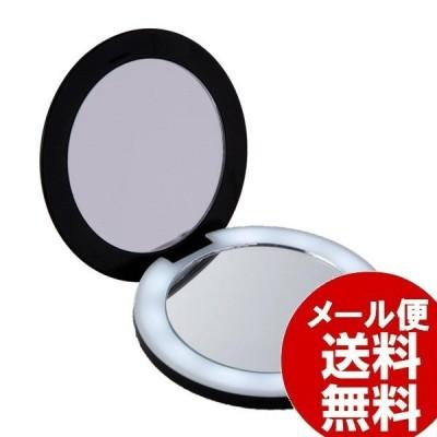 拡大鏡 10倍拡大鏡コンパクトミラー コンパクト2面ミラー ライト付 コンパクトサイズ 化粧直し