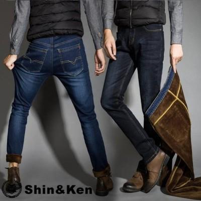 ジーンズ メンズ デニムパンツ 極暖 防寒 ジーパン パンツ 暖パン 冬服 裏起毛 フリース 大きいサイズ