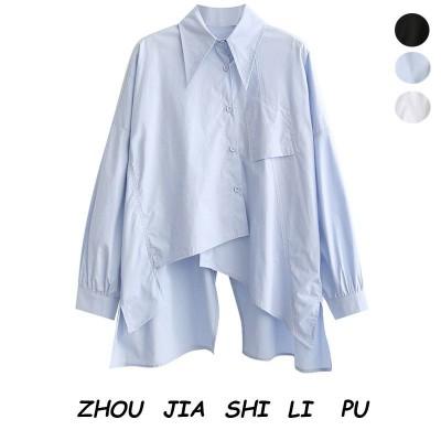 春夏新品 大人気 気質 薄い シャツ 可愛く着痩せ トップス 韓国ファッション 女性長袖 透け感 シャツWZ1558  A152